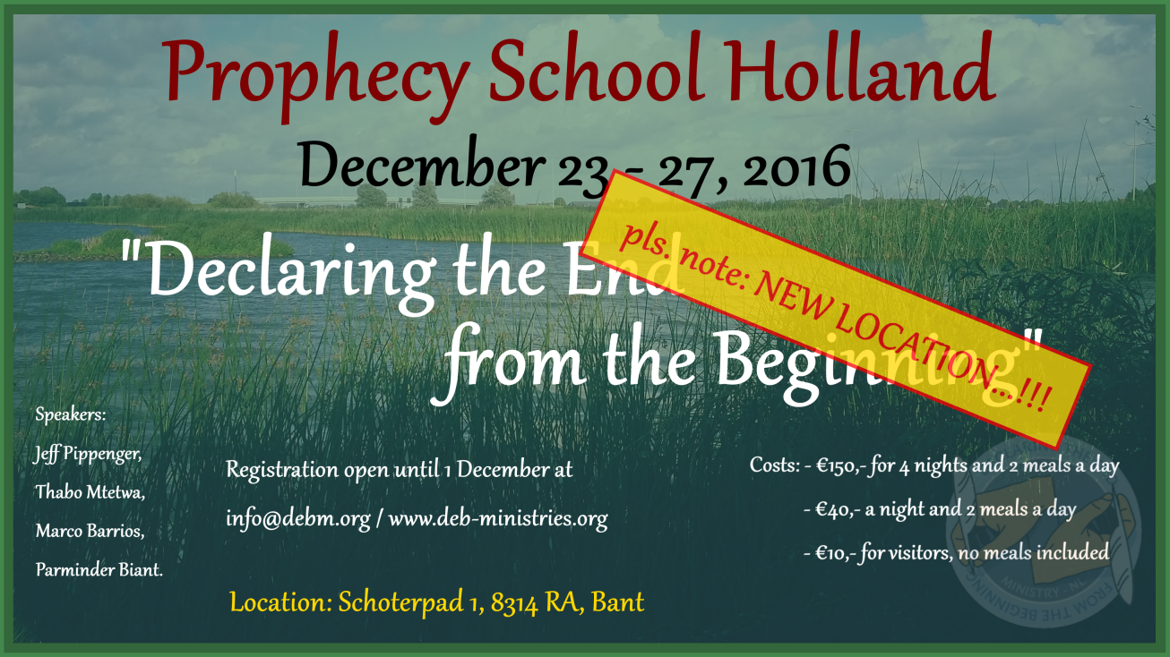 Registration for Prophecy School (Campmeeting) – DEB-ministries